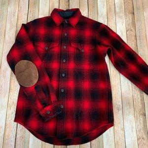 Polo Ralph Lauren Men's 100% Wool flannel Shirt
